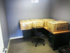 The boxes before unboxing
