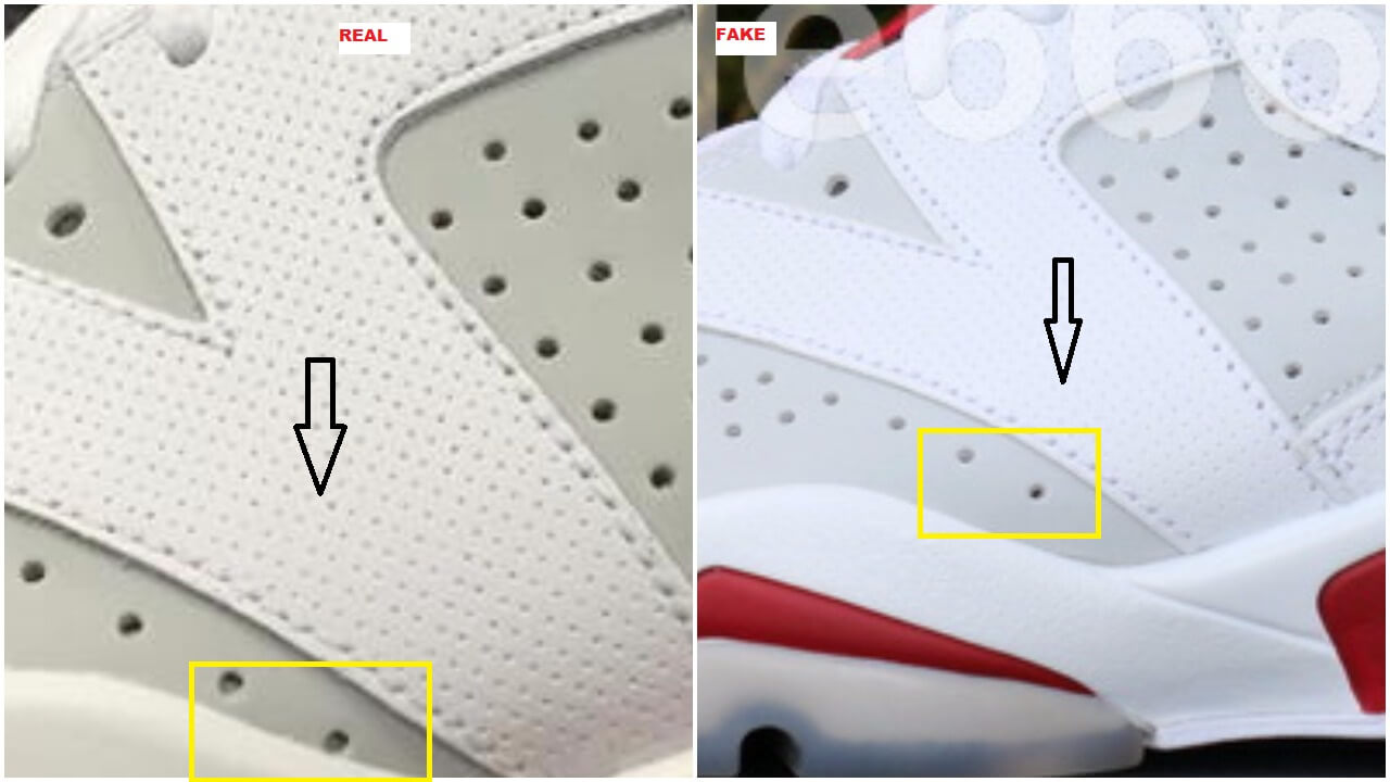 47ca97943b296a ... Fake Air Jordan 6 Alternate Spotted-Quick Tips To Identify Them – ARCH  ...