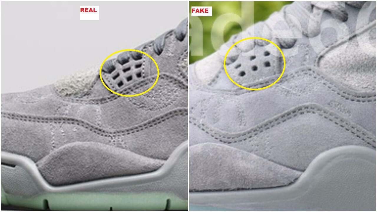 94363c1e3f8 When you look at the lace holes on the bottom of the eyestay  jordan turf  shoes from china ...
