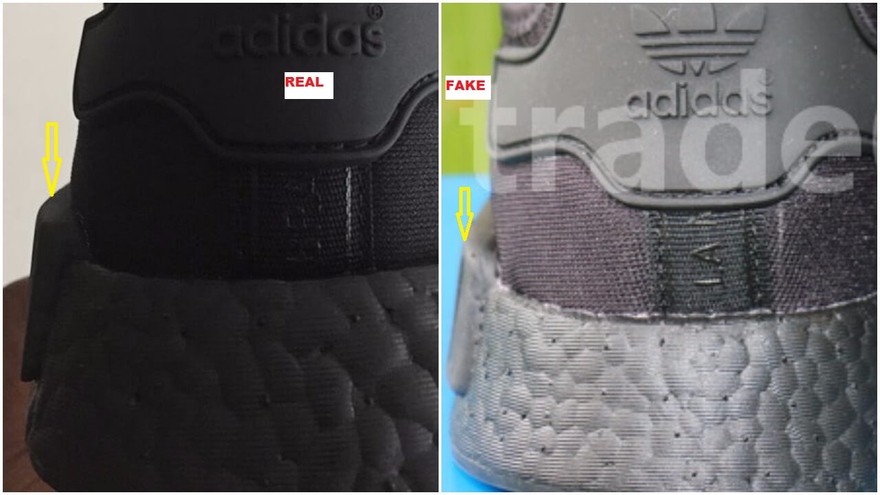 Quick Tips To Spot The Fake Triple Black Adidas Nmd R1 Arch Usa