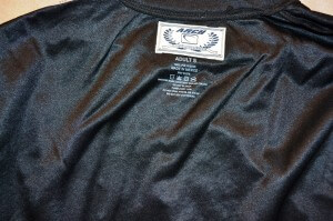 The woven label is adhered and this is now an ARCH branded tee.