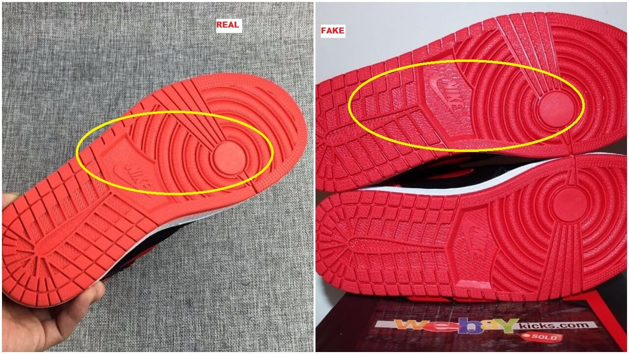 9bf8256f249291 ... initially said not to mind the colors because of the lighting but it  became more clear that the fake pair has an orange outsole while the  authentic pair ...