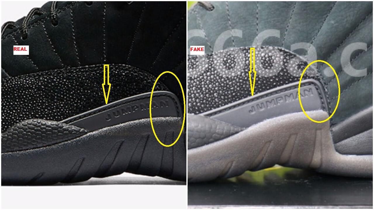 on sale 18219 a3edb How To Spot The Fake Black Air Jordan 12 OVO – ARCH-USA