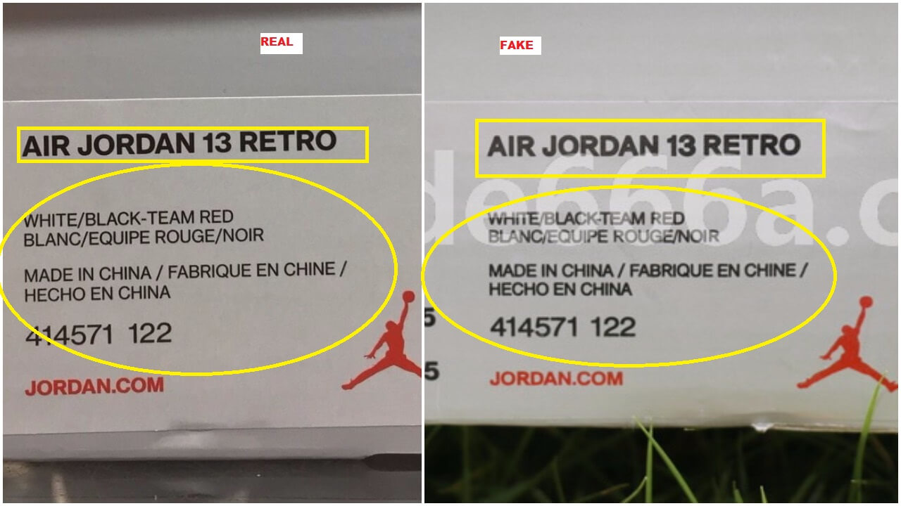sale retailer fd574 110a2 Here Is How You Can Bust The Fake Air Jordan 13 Cherry Bulls ...