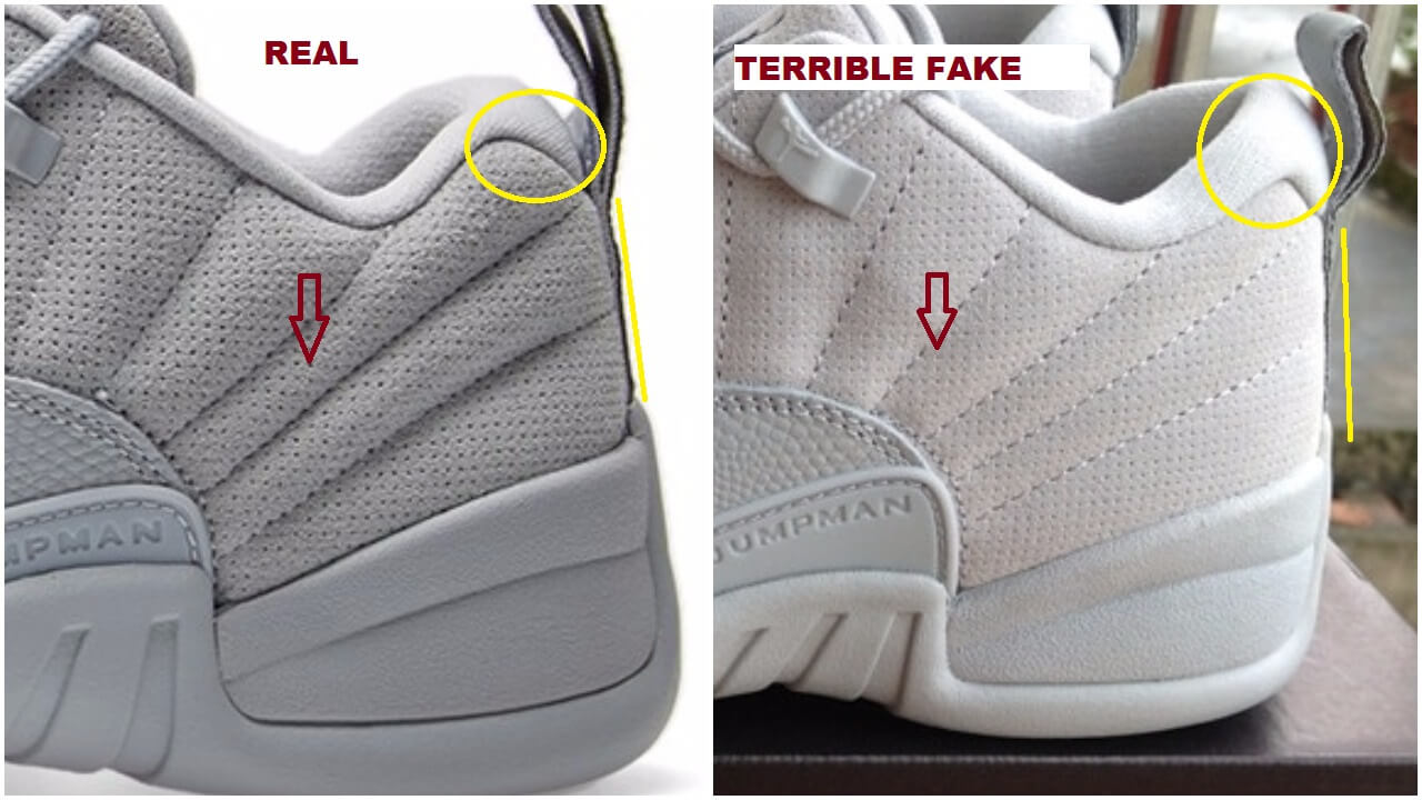 finest selection e59e5 5e4c1 Quick Ways To Spot The Fake Air Jordan 12 Low Wolf Grey ...