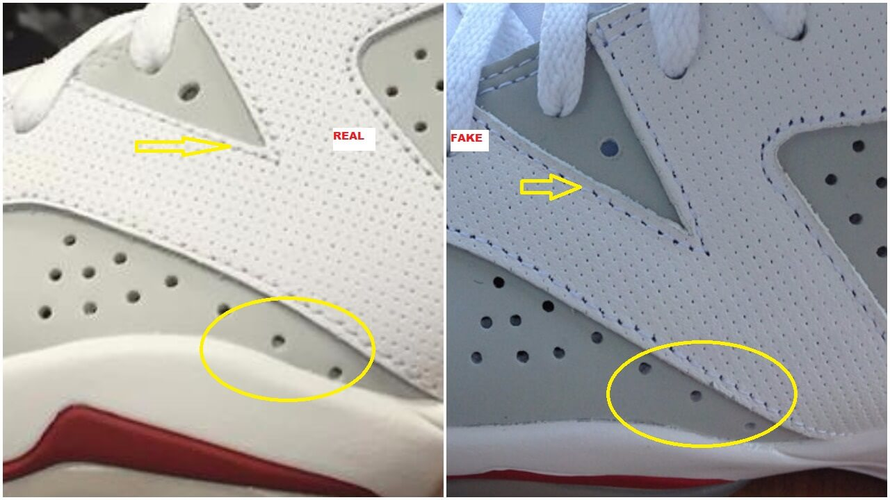 sports shoes 06232 d560a Fake Air Jordan 6 Alternate Spotted-Quick Tips To Identify ...
