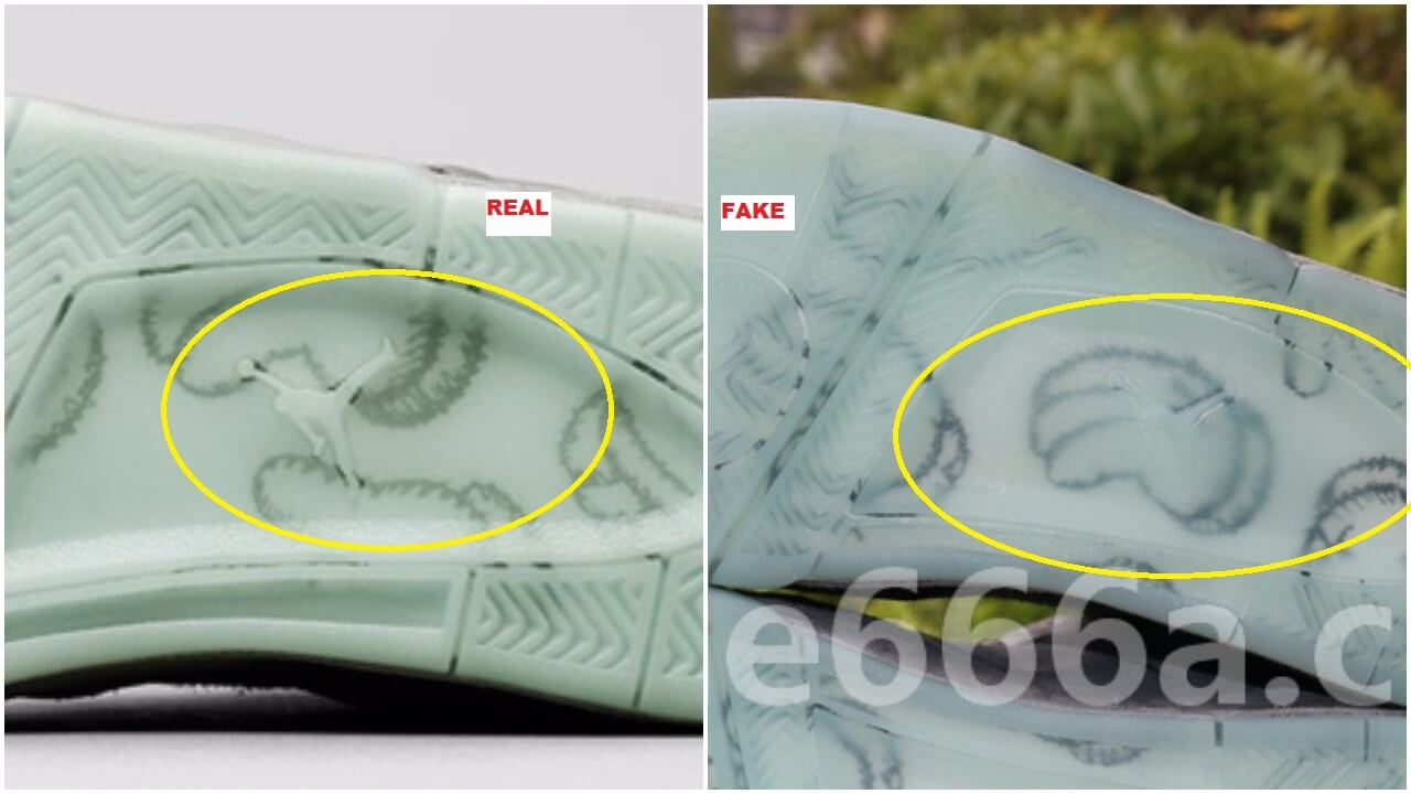 The outsoles are completely different on both pairs  the jumpman isn t  visible on the replicas dd54ee7ce