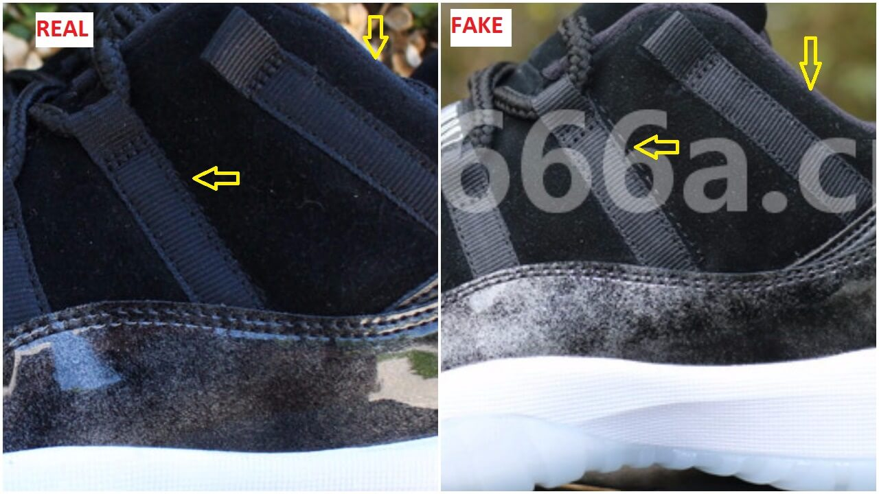 e6dcf412334254 How To Quickly Identify The Fake Air Jordan 11 Low Barons – ARCH-USA