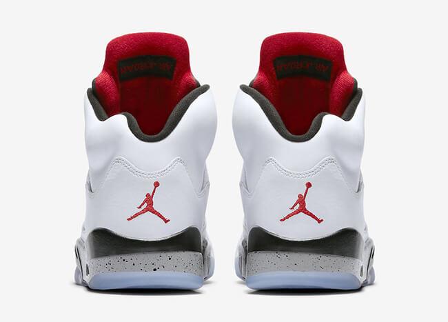 Luft Jordan 5 Hvit Sement Tilpasset yILWVxUjt