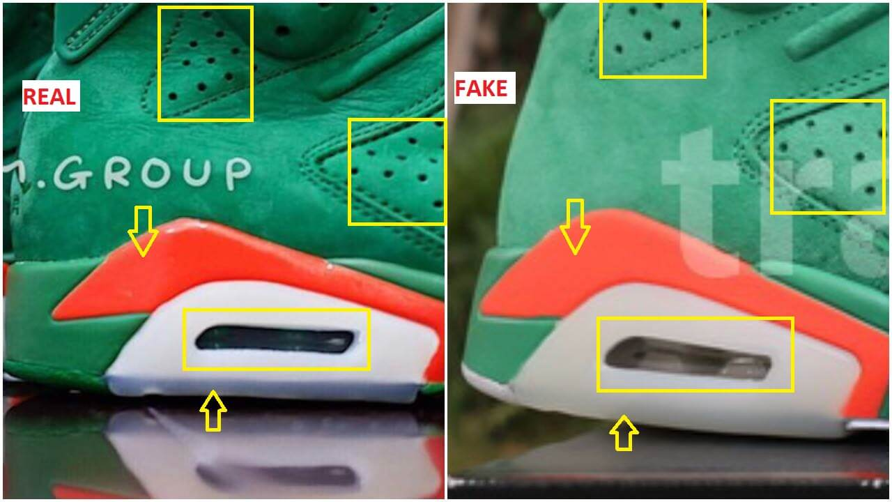 hot sale online 75062 97093 Fake Air Jordan 6 Gatorade Green Suede Spotted-Quick Tips To ...