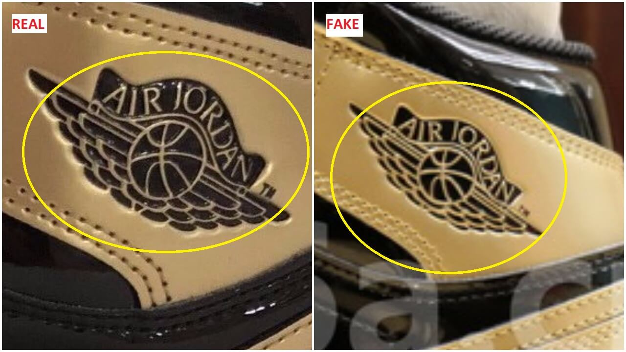 The jordan wings logo has a bolder font and the shape of the ball and the  angel wings are totally dissimilar between both pairs. dfac9d3f1